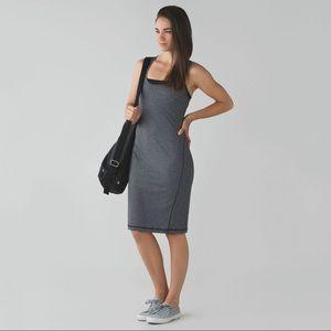 Lululemon Go For It Bodycon Micro Stripe Dress